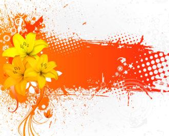 Vector Grunge Colorful Floral Background Vector Illustrations floral