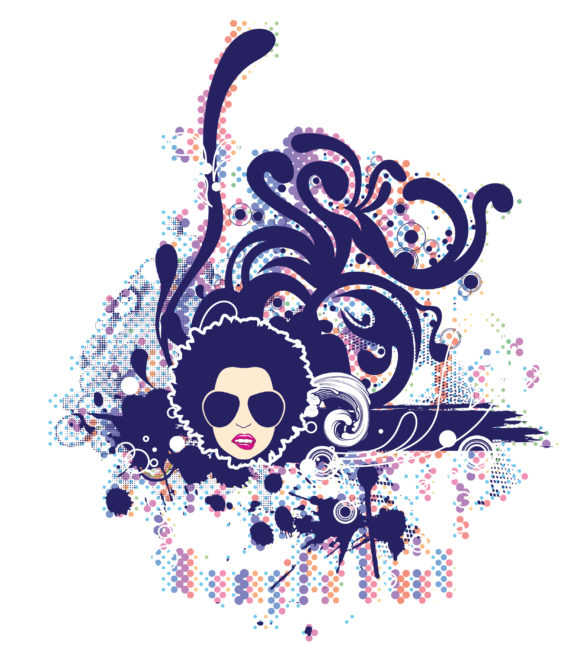 Astounding Vector Vector Graphic: Vector Graphic Abstract Illustrationr With Funky Face 1