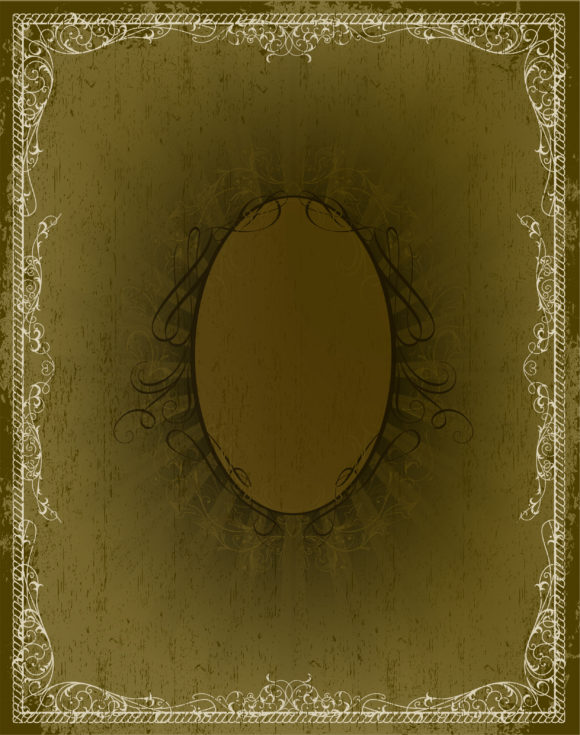 Stunning Rays Vector Art: Vintage Floral Frame With Rays 2011 03 13 ha 16