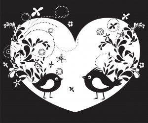 Vector Abstract Illustration With Birds Vector Illustrations floral