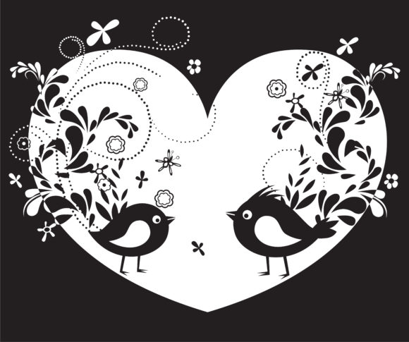 Trendy With Vector Artwork: Vector Artwork Abstract Illustration With Birds 2011 03 15 ja 22