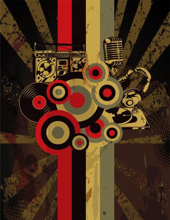 Creative Eps Vector: Eps Vector Retro Grunge Concert Poster 1