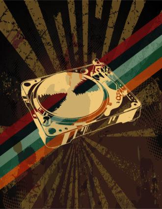 Vector Retro Grunge Concert Poster Vector Illustrations old
