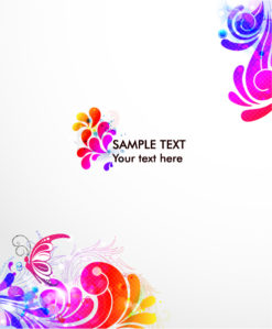 Vector Colorful Swirls Background Vector Illustrations vector