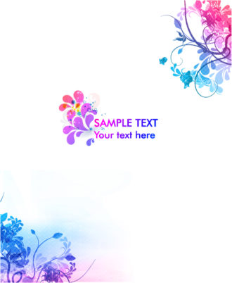 Vector Colorful Floral Background Vector Illustrations floral