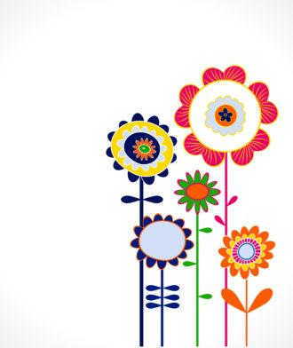 Popart Floral Background Vector Illustration Vector Illustrations floral