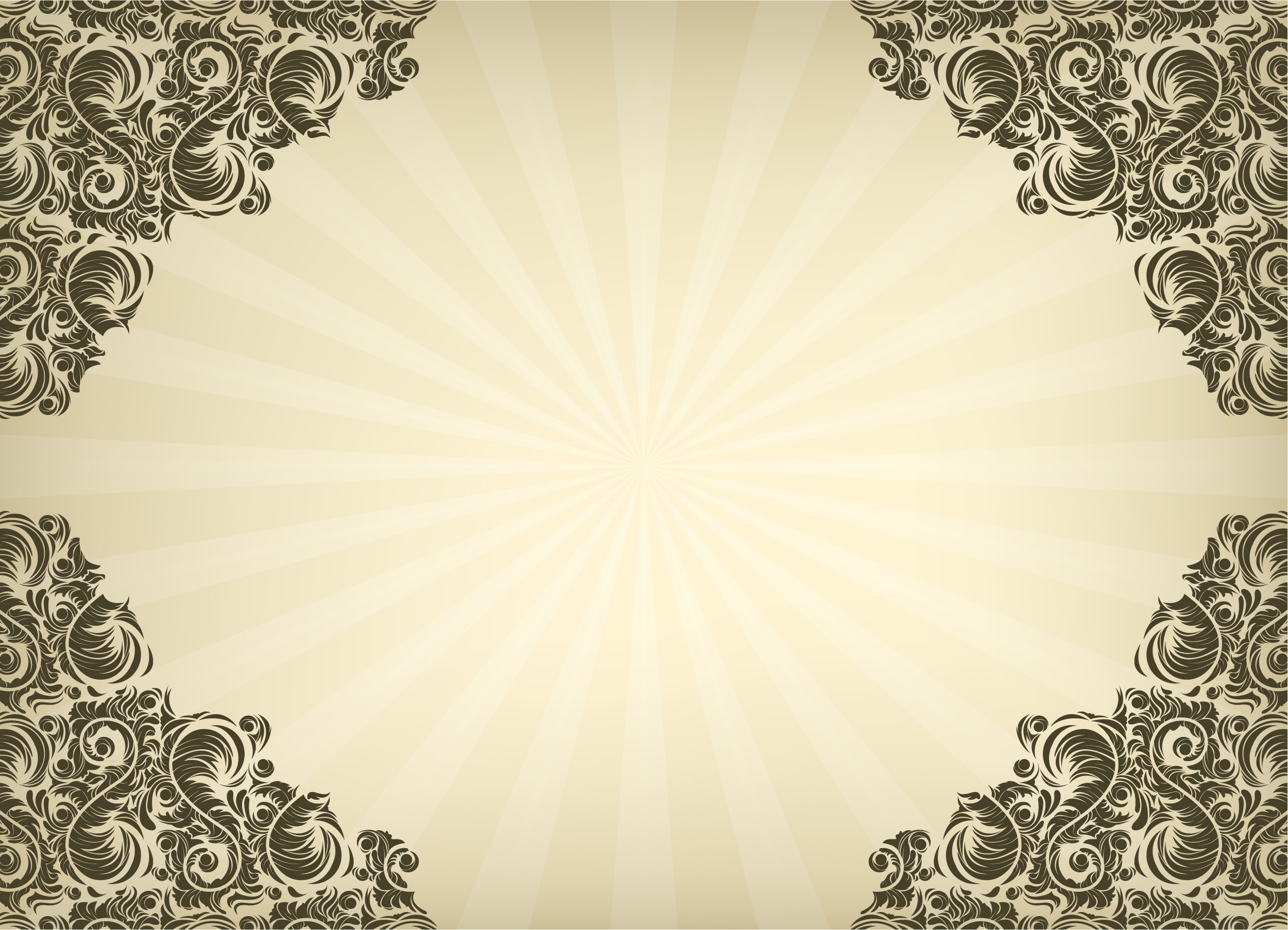 Vintage Floral Background Vector Illustration Designious