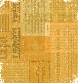 Old Newspaper Texture Vector Illustration Vector Illustrations old