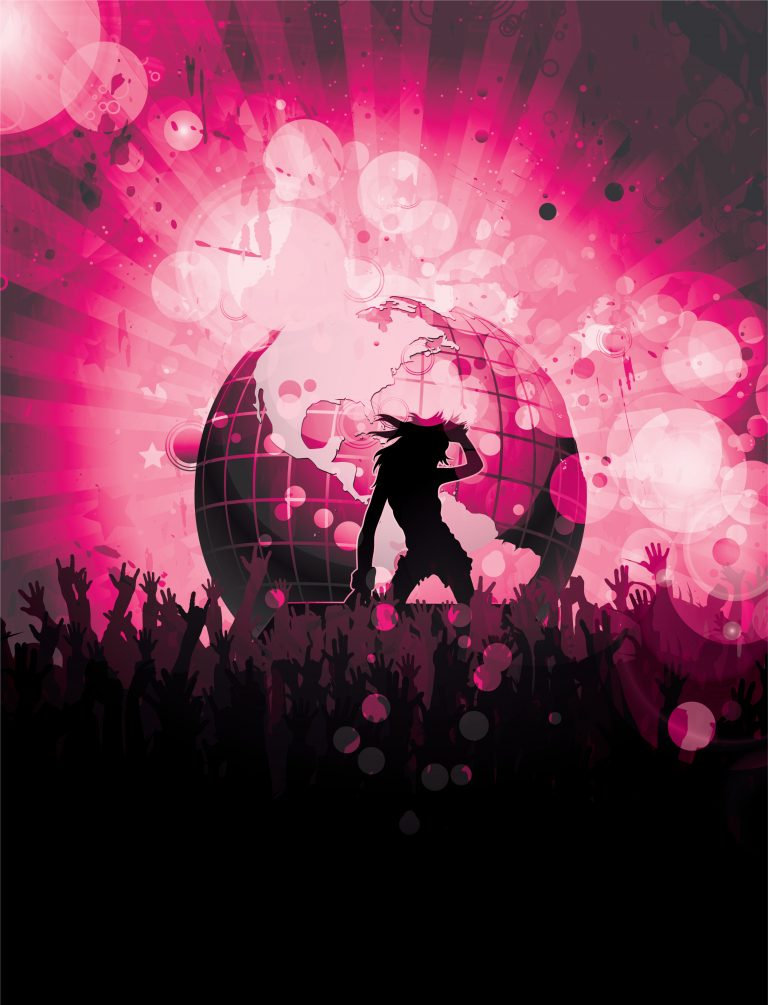 Vector Concert Poster With Crowd Vector Illustrations star