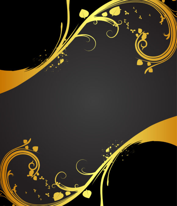 Vintage Gold Floral Background Vector Illustration 2011 03 28 xa 63