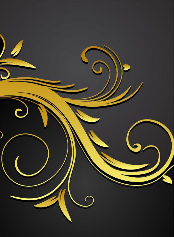 Vintage Gold Floral Background Vector Illustration 2011 03 28 xa 64