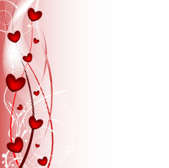 Vector Valentine Background With Hearts Vector Illustrations wave