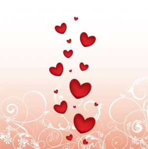 Vector Valentine Background With Hearts Vector Illustrations floral