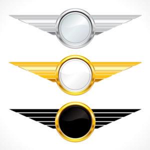 Gold Emblems Set Vector Illustration Vector Illustrations vector