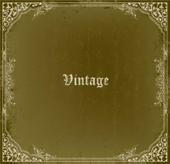 Special Rust Vector Graphic: Grunge Vintage Frame Vector Graphic Illustration 1