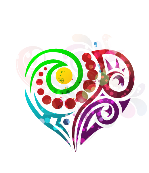 Vector Vector Artwork Abstract Colorful Heart Vector Illustration 1