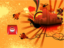 Abstract Urban Background Vector Illustration Vector Illustrations wave