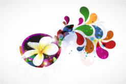 Abstract Colorful Background With Plumeria Vector Illustration Vector Illustrations vector