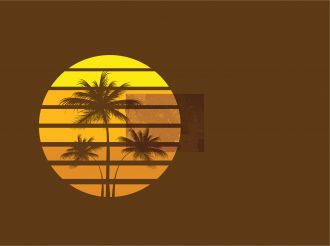 Vector Grunge Summer Illustration Vector Illustrations palm