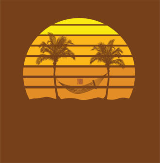 Vector Grunge Summer Illustration Vector Illustrations hammock