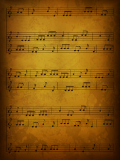 Vintage Music Background Vector Illustration Vector Illustrations old