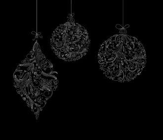 Vector Christmas Balls Made Of Floral Vector Illustrations ball