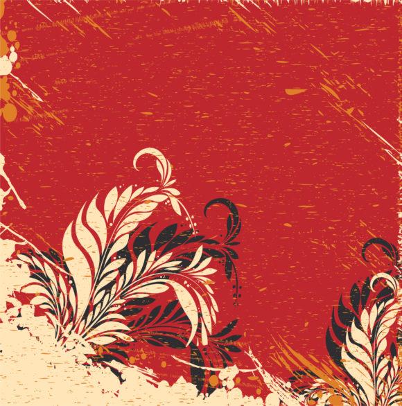 Stunning Vector Vector Image: Vintage Floral Background Vector Image Illustration 1