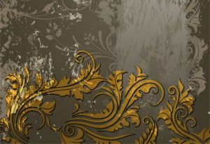 Grunge Floral Background Vector Illustration Vector Illustrations old