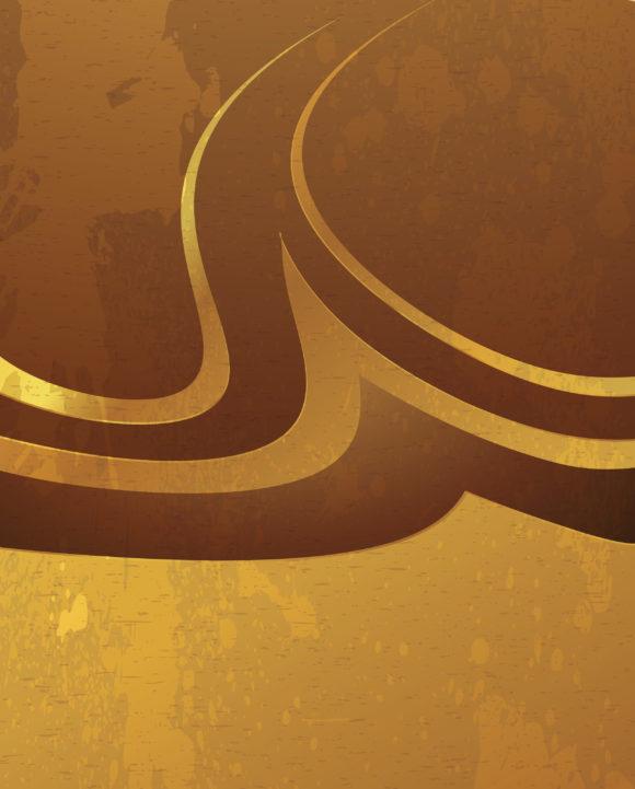 Gold Vector Design: Grunge Gold Background Vector Design Illustration 1
