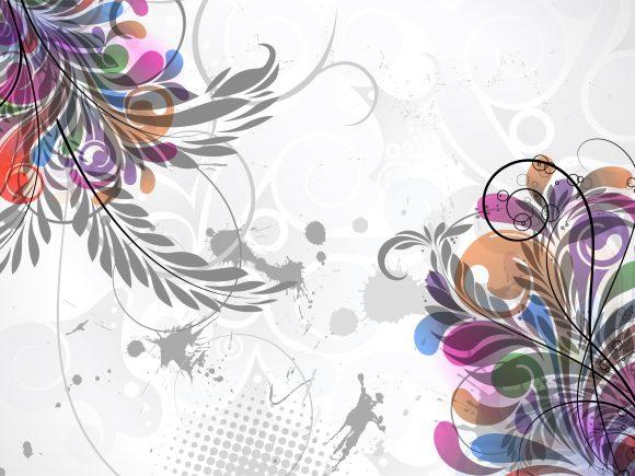 Grunge Vector Image: Vector Image Grunge Floral Background With Halftone 2011 04 30 kc 27
