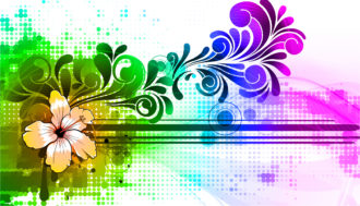 Colorful Abstract Background Vector Illustration Vector Illustrations floral