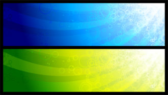 Abstract Web Banners Set Vector Illustration Scenes vector