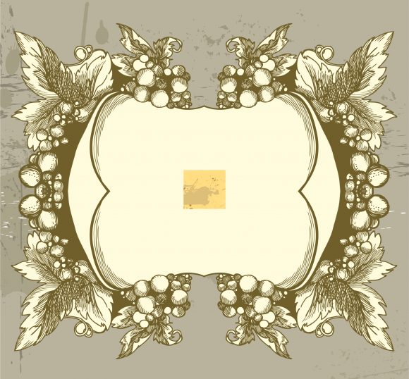 Vector, Frame, Illustration Vector Graphic Grunge Floral Frame Vector Illustration 1