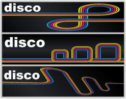 Disco Banners Set Vector Illustration Vector Illustrations wave