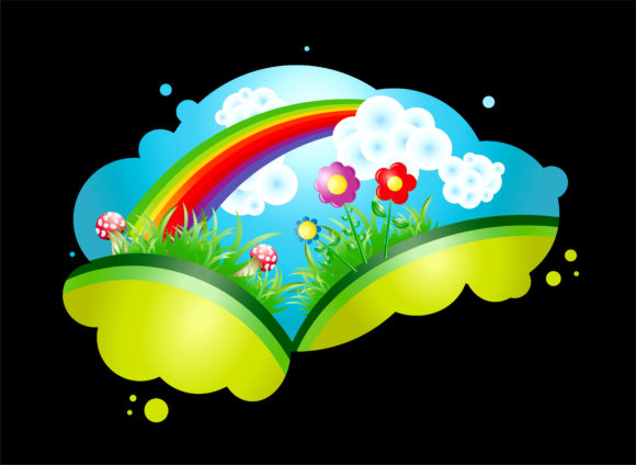 Vector Colorful Abstract Illustration With Rainbow Vector Illustrations wave