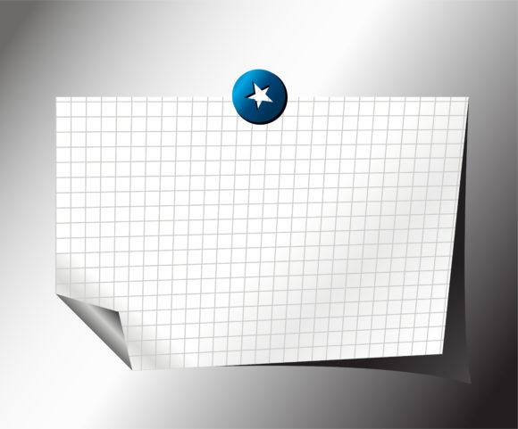 Paper, Vector, Clean Vector Artwork Note Paper Vector Illustration 1