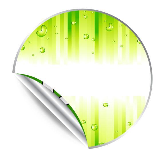Green Sticker Vector Illustration Vector Illustrations vector