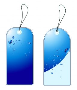 Vector Blue Shopping Tags Set Vector Illustrations vector