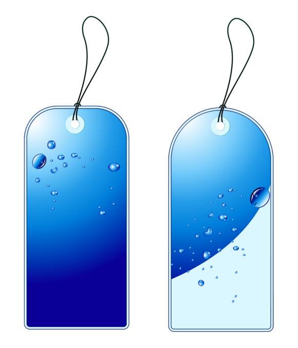 Surprising Shopping Vector Design: Vector Design Blue Shopping Tags Set 1