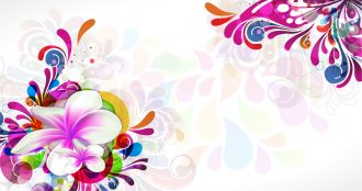 Colorful Floral Background Vector Illustration Vector Illustrations floral