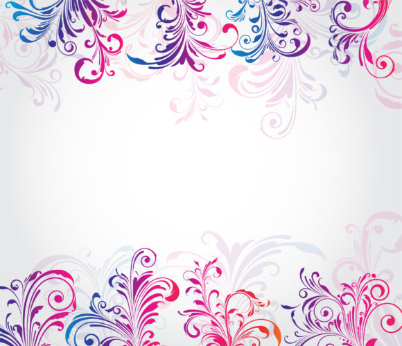 Colorful Vector Design: Colorful Floral Background Vector Design Illustration 1