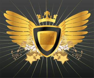 Vintage Gold Emblem Vector Illustration Vector Illustrations old