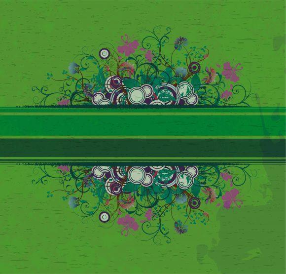 Brilliant Grunge Vector: Grunge Floral Background Vector Illustration 1