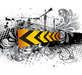 Under Construction Sign Vector Illustration Vector Illustrations old