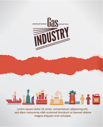 Vector Illustration With Industrial Elements With Torn Paper Vector Illustrations vector