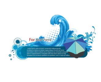 Vector Summer Frame With Waves Vector Illustrations sea