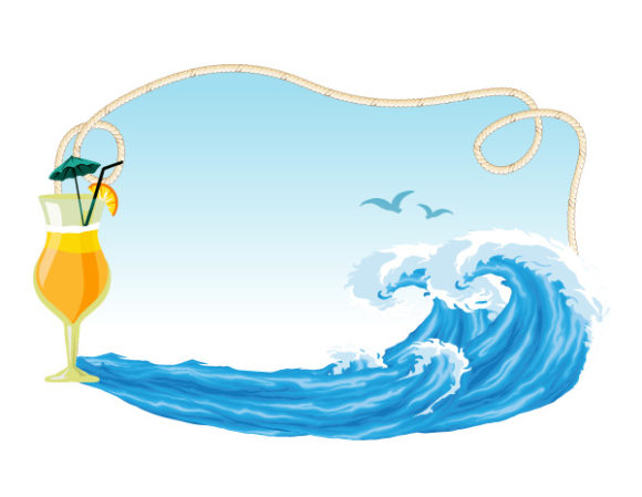 Vector Summer Frame With Waves 20 04 2011 52