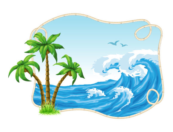 Vector Summer Frame With Palm Trees 20 04 2011 55