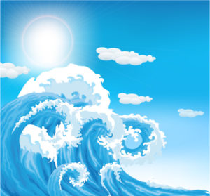 Vector Summer Background With Waves Vector Illustrations sea