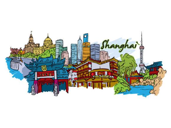 Buy Illustration Vector Artwork: Shanghai Doodles Vector Artwork Illustration 1